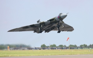 XH558 takes to the skies at RAF Waddington