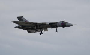 XH558 flypast with gear down